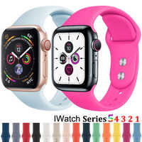 Soft Silicone Sport Band For 38mm Apple Watch Series 3 4 5 42mm Replacement Wrist Bracelet Strap For iWatch Sports Edition 40mm