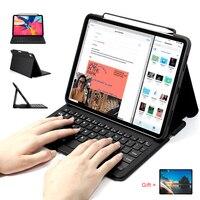 Para iPad Pro 11 / 12.9 2018 Capa de teclado  WOWCASE Bluetooth anexa magneticamente a tampa de carregamento fina do tablet Para iPad 2018 Teclado Para iPad Pro 11 / 12.9 3ª geração com suporte para lápis Capa protetor