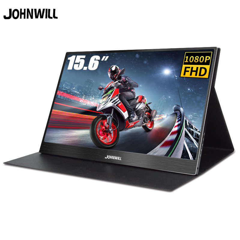 "Monitor portátil 15.6 ""LCD USB monitor de jogos do Tipo C Hdmi ips 1080p HD display para PS4 Laptop Telefone interruptor Xbox Pc com Caso"