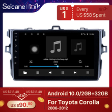 """Seicane 9"""" Android 10.0 Car GPS Multimedia For 2006 2007 2008 2009 2010 2011 2012 Toyota Corolla Navi Player Support Bluetooth"""