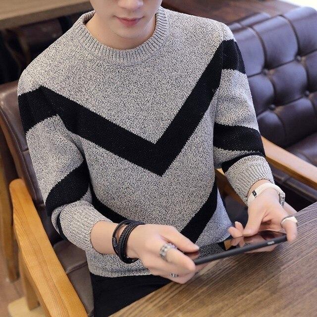 Мужской офисный трикотажный свитер 3