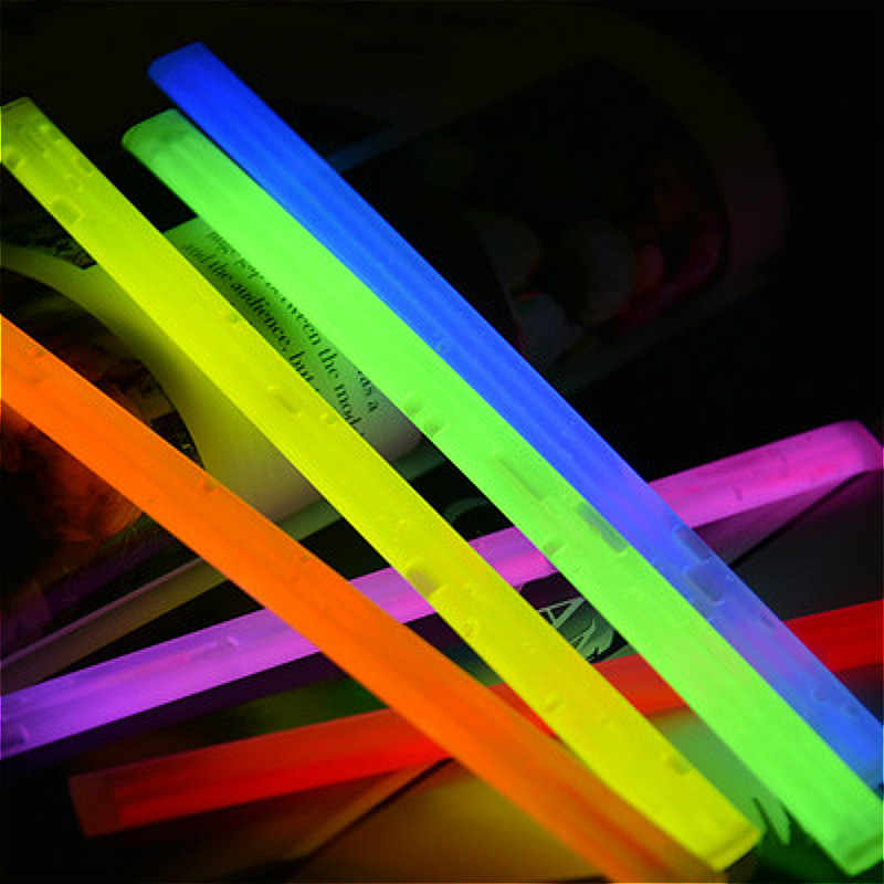 Party Fluorescence Light Glow Sticks Bracelets Necklaces Neon For Wedding Party Glow Sticks Bright Colorful Glow Sticks New Year