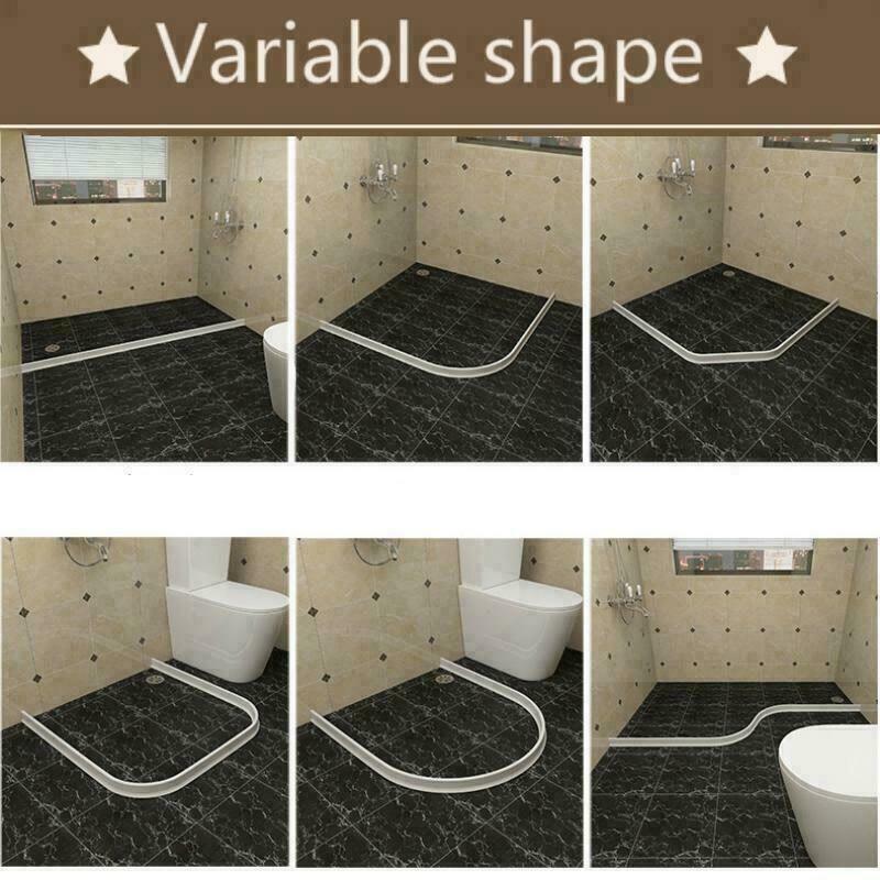 Flexíveis da Água do Assoalho das Tiras da Rolha da Água do Silicone para Myding do Banheiro da Cozinha Barreiras Silicone para Myding Banheiro da Cozinha do
