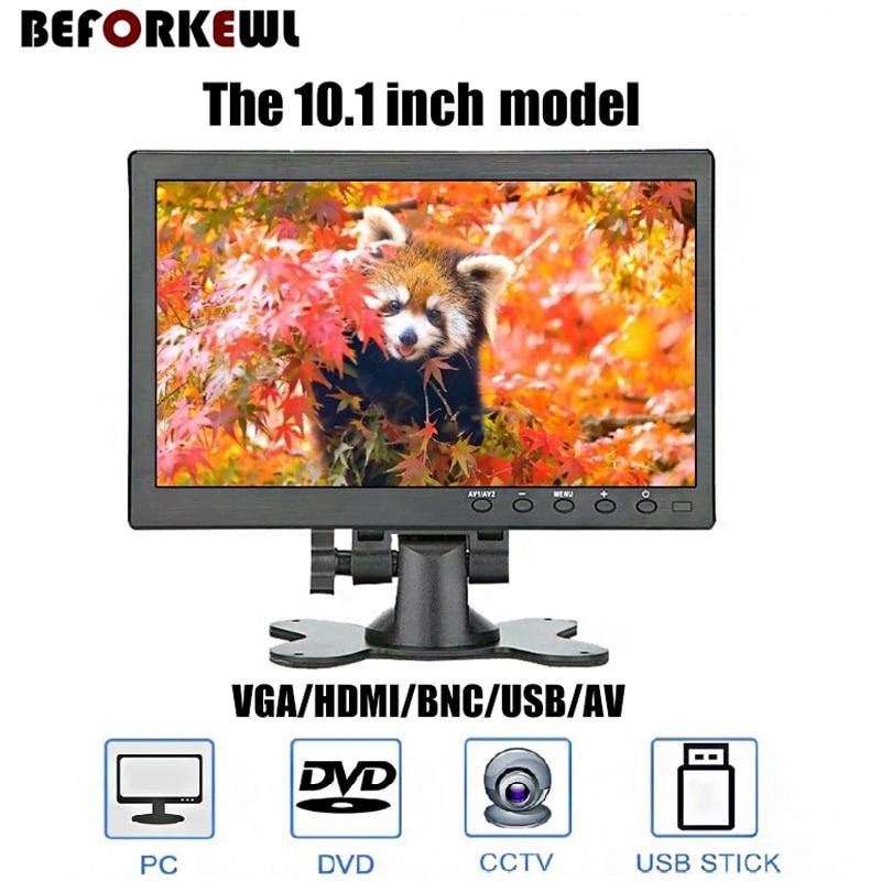 1024*768 10.1 inch  LCD HD & Computer Display Color Screen  Video Input Security Monitor With CVBS/BNC / AVI / VGA / HDMI