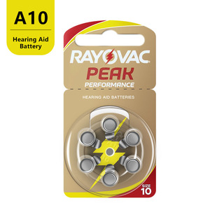 Image 3 - 60 PCS Rayovac PEAK High Performance Hearing Aid Batteries. Zinc Air 10/A10/PR70 Battery for BTE Hearing aids. Free Shipping!
