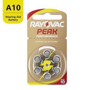 Image 3 - 60 sztuk Rayovac PEAK wysokowydajne baterie do aparatów słuchowych. Bateria cynkowa 10/A10/PR70 do aparatów słuchowych BTE. Darmowa dostawa!