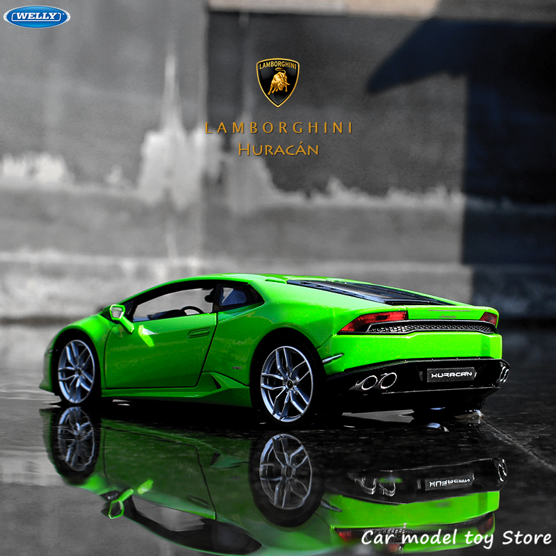 WELLY – Lamborghini Aventador 1:24, voiture de sport, simulation de voiture en alliage, artisanat de décoration, collection, jouets, outils, cadeau
