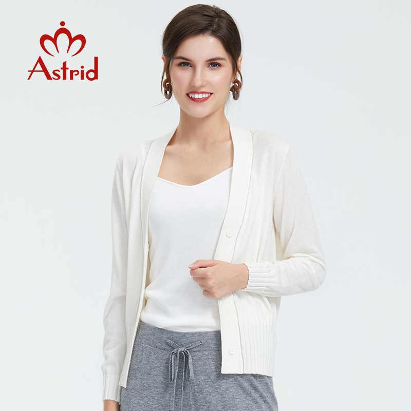Astrid2019 خريف جديد وصول سترة المرأة بلوزة بيضاء اللون عالية الجودة سترة شعبية ضئيلة نمط المرأة الخريف الملابس 8903