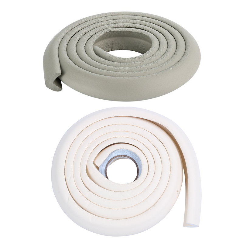 2 Pcs 2M Children Protection Table Guard Strip Baby Safety Products Glass Edge Furniture Horror Crash Bar Corner Foam Bumper Col