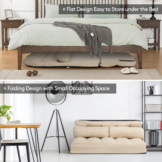Foldable Floor Sofa Bed w/ 6-Position  5