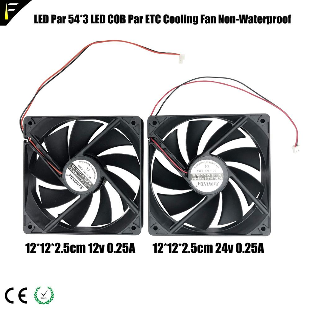 54*3w <font><b>LED</b></font> <font><b>Par</b></font> Can 9*9cm 12*12cm Cooling Fan DC 12v 24v COB <font><b>Led</b></font> <font><b>Par</b></font> Light Cold Fan Spare <font><b>Parts</b></font> For Dedicated Stage Props image