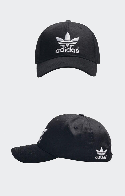 Adidas original running hat respirável boné peaked
