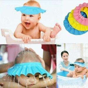Adjustable Baby Shower Hat Toddler Kids Shampoo Bathing Shower Cap Head Wash Hair Shield Direct Sun Visor Caps for Baby Care
