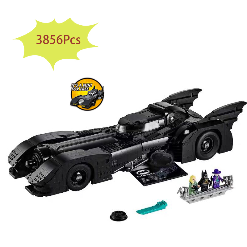 In Stock Lepining 59005 76139 3856Pcs New Batman 1989 Batmobile Model Building Kits Blocks Bricks Toys Children Gift Compatible