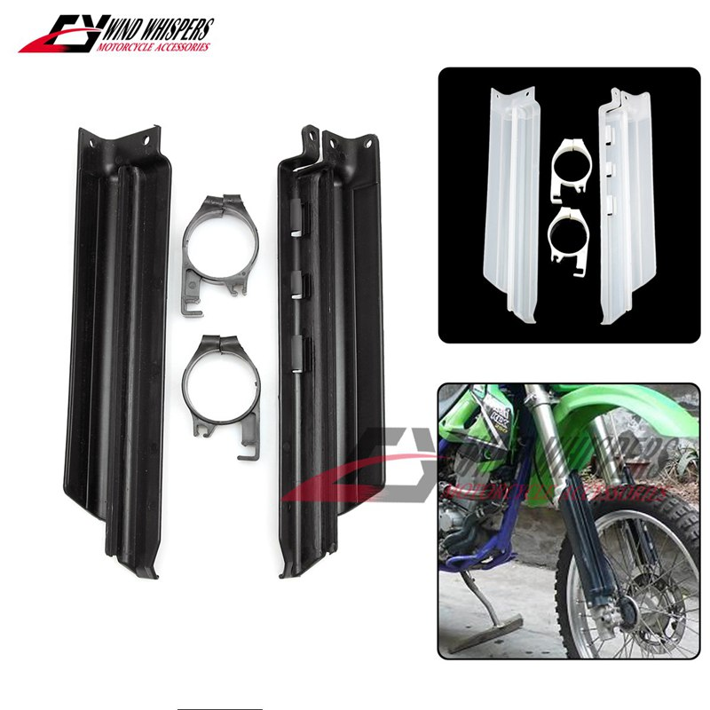 Motocykl przednia amortyzacja Spillplate widelec Shock Guard Protect Board dla Kawasaki KLX250 KDX125 KDX200 KDX250 KLX KDX 250