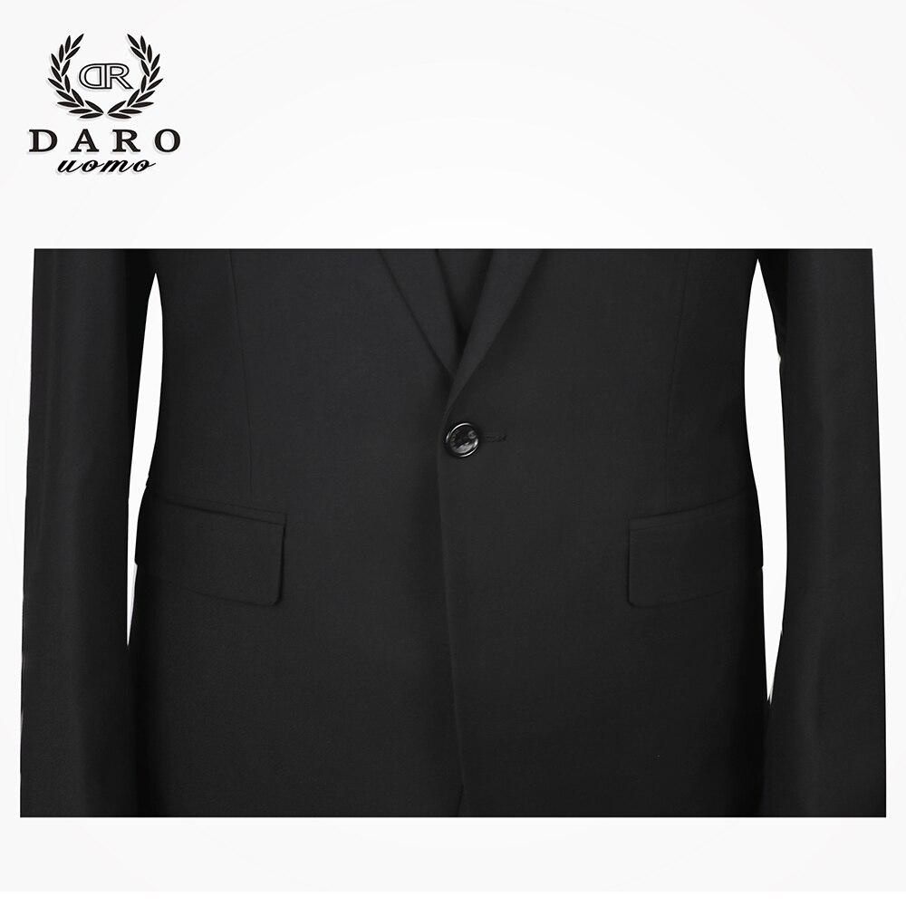 2019 Даро мужские костюмы Slim Fit пиджак брюки жилет для работы в деловом стиле и для свадьбы комплект из 3 предметов DR6158 - 5