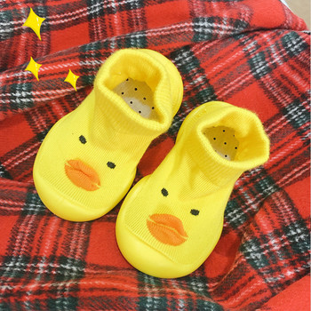 ins wind net red children's floor socks soft bottom toddler shoes baby little yellow duck socks shoes infant floor socks