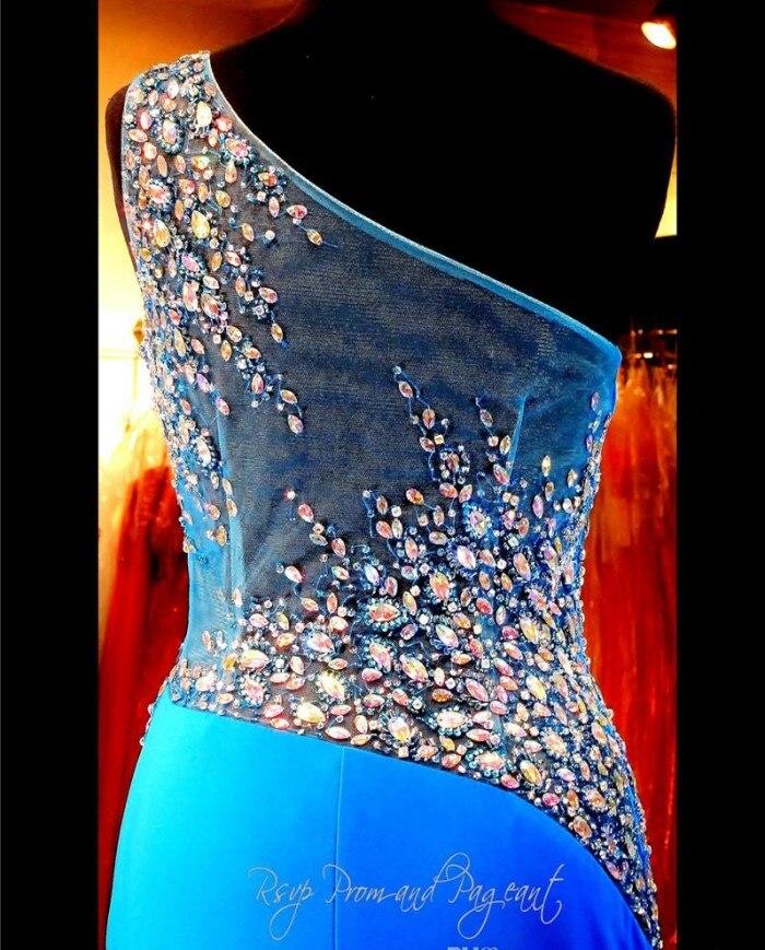 Купить синее облегающее вечернее платье на одно плечо прозрачное привлекательное