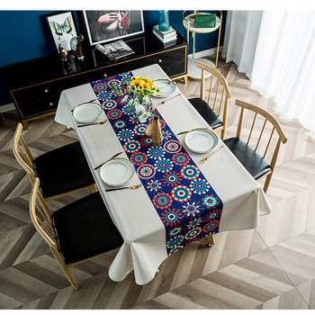 Mantel De poliéster impreso grueso bohemio para comedor, cocina, decoración del hogar, Mantel Rectangular, Mantel De Mesa Impermeable