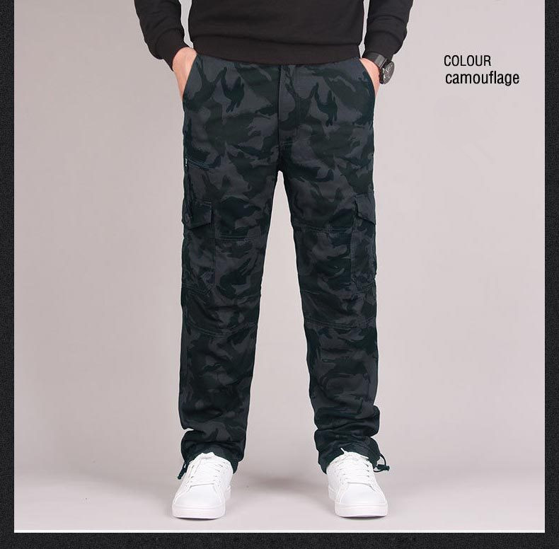 H6986da48ac1d496698e4bb261efd9fa58 - Men's Winter Warm Thick Pants Double Layer Fleece Military Army Camouflage Tactical Cotton Long Trousers Men Baggy Cargo Pants