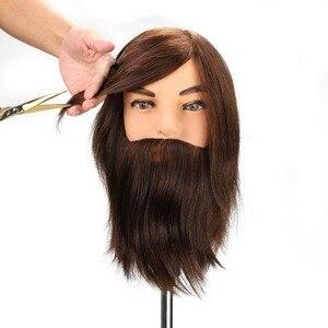 100% Real Human Hair Beard Tra