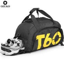 New Men Travel Bags Fashion Sports Gym Bag For Teenager Men Multifunctional Shoulder Hand Bag Male Waterproof Short Trip Duffle