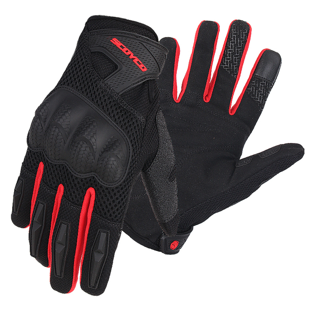 SCOYCO Motorcycle Gloves Summer Breathable Mesh Moto Gloves Touch Function Motorbike Gloves Motocross Off-Road Racing Gloves 2
