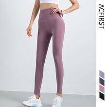 Серые женские штаны для йоги acfirst бесшовные леггинсы с высокой