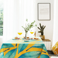 Mediterranean tablecloth colorful dining cttton table covers thick dressing table cloth home kitchen banquet party decoration