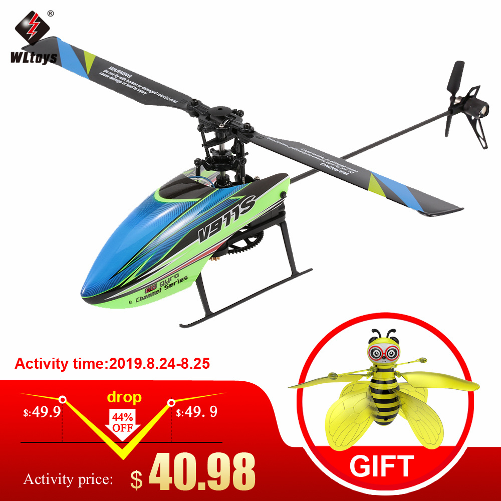 RC Helicopter Gyroscope Rtf-Toys Remote-Controller V911S Non-Aileron 3batteries Single-Propelller