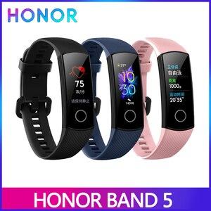Image 1 - Huawei Honor Band 5 5i 4 4e inteligentny zespół inteligentny zegarek z tlenem krwi AMOLED heart rage fItness sleep tracker wiele języków