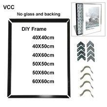 Quadro de imagem diy para quadro de cartaz de parede metal 40x50 50x60 40x60 arte da parede decorativo moldura de metal diy, sem prancha, sem vidro