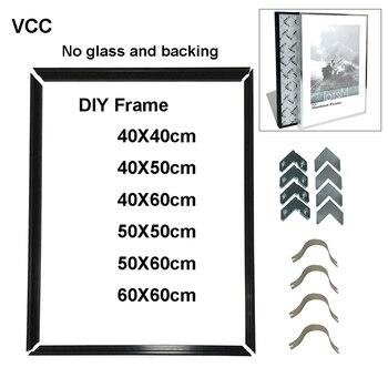 DIY фоторамка для настенного плаката металлическая рамка 40X50 50X60 40X60 декоративная металлическая фоторамка DIY, без доски, без стекла