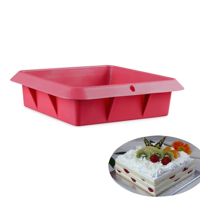 Silicone Household Square Shape Cake Mold For Baking Dessert Ice-Creams Mousse Mould Cakes Decorating Tools Pan