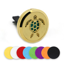 BOFEE Car Perfume Aroma Diffuser Locket Vent Clip Tree Of Life Charm Magnet Stainless Steel Essential Oil Fashion Jewelry 30MM bofee stainless steel magnet car essential oil diffuser locket aromatherapy perfume oil locket vent clip jewelry gift 30mm