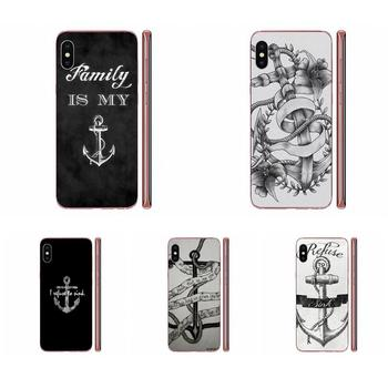 Soft Phone Covers Case For Huawei P7 P8 P9 P10 P20 P30 Lite Mini Plus Pro Y9 Prime P Smart Z 2018 2019 I Refuse To Sink Anchor image