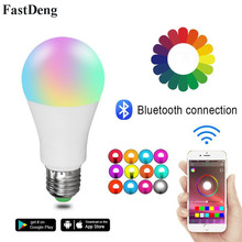 Wireless Bluetooth Color Changing Light Bulb E27/B22 110V 220V Dimmable Music Control Smart Home Lamp to IOS /Android