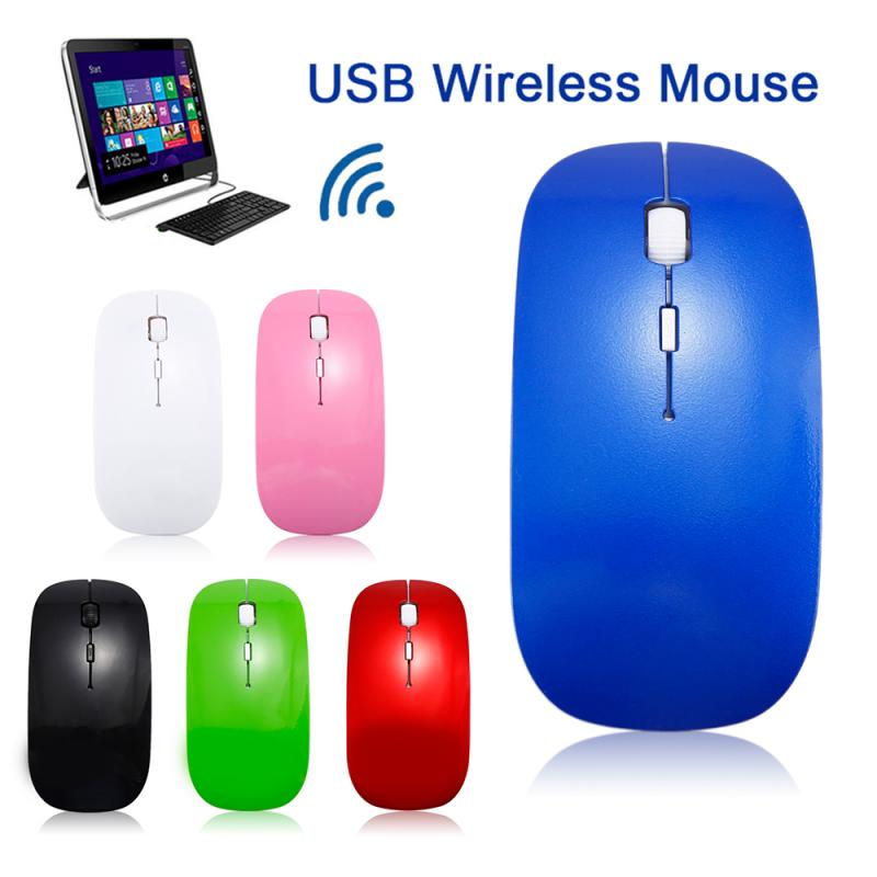1600 DPI USB Optical Wireless Computer Mouse 2.4G Receiver Super Slim Mouse 3 Keys Game Mouse For PC Laptop Notebook