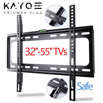 TV Wall Mount Bracket 32-55 Tilt Bracket for TV Rack Wall Mount up to VESA 400x400mm and 110lbs LCD LED Monitor Flat Panel image