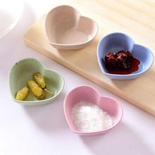 Kitchen cutlery tray wheat straw environmental protection small dish seasoning plate food dish Fruit dessert plate