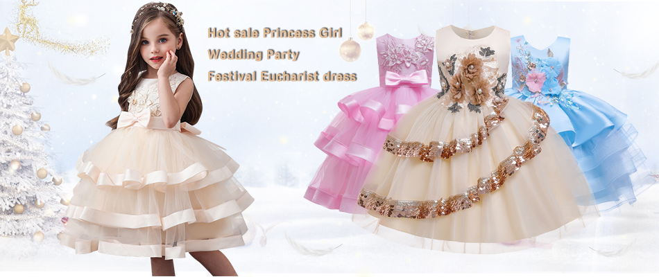 H6987bed14fc146e89493be3fa1e1b6d9I 2019 Kids Tutu Birthday Princess Party Dress for Girls Infant Lace Children Bridesmaid Elegant Dress for Girl baby Girls Clothes
