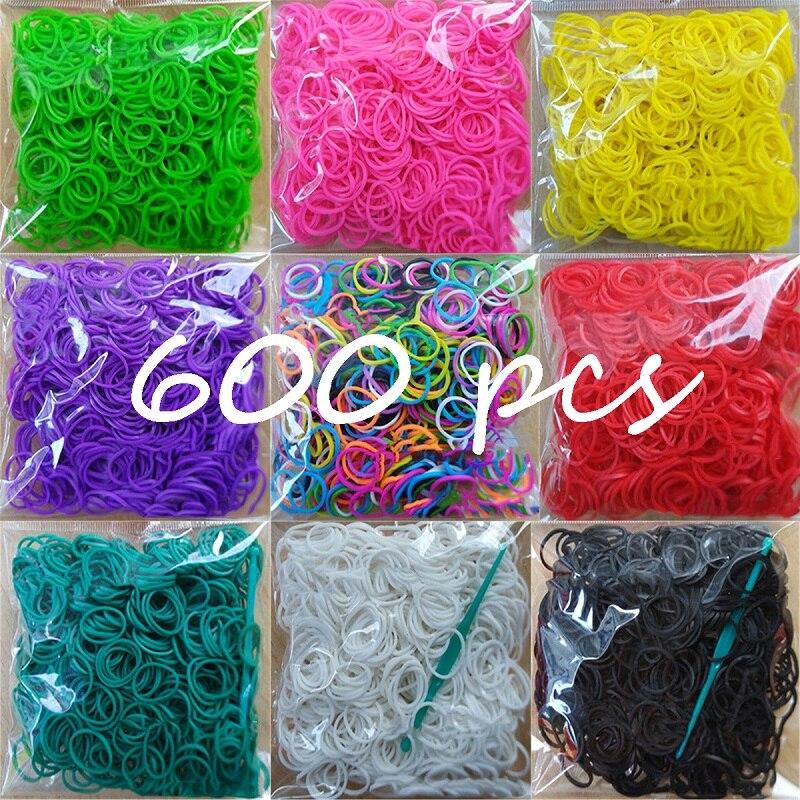 600 elásticos diferentes cores de borracha tear bandas pulseira crianças caseiro pulseira diy para tear pulseira pulseiras para mulher