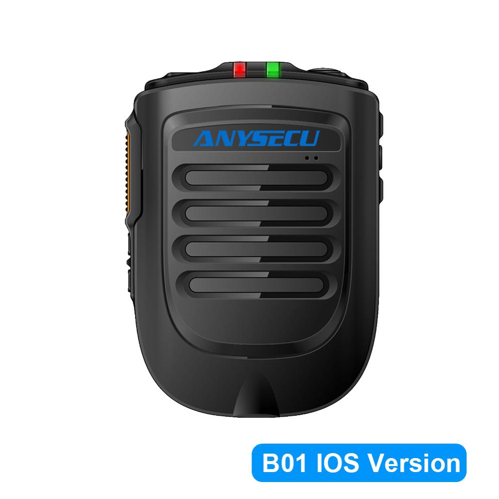 Anysecu Bluetooth Microphone B02 Handheld Wireless Microphone For 3G 4G Newwork IP Radio With REALPTT ZELLO IOS Mobile Phone