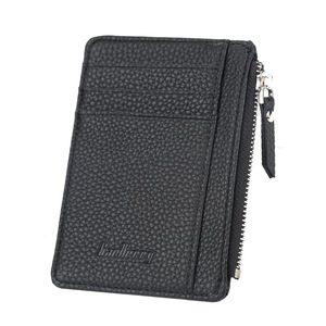 New Card Holder Women Soft Leather Key Chain Bag Small Card Wallets Female Organzier Mini Credit Card Case Zipper Coin Bags(China)