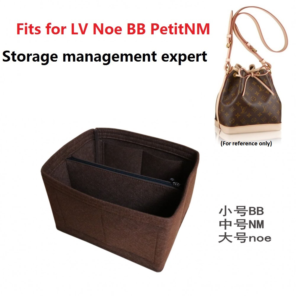 NOE Series Noe BB PetitNM Felt Cloth Insert Bag Organizer Makeup Handbag Organizer Travel Inner Purse Portable Cosmetic Bags