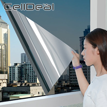 2m Length Privacy Film One Way Mirror Window Film Self-adhesive Reflective Solar Film Glass Films for Home Sliver Glass Stickers