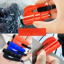Seat-Belt-Cutter Hammer Punch Key-Chain Window-Breaker Spring-Type Car Escape