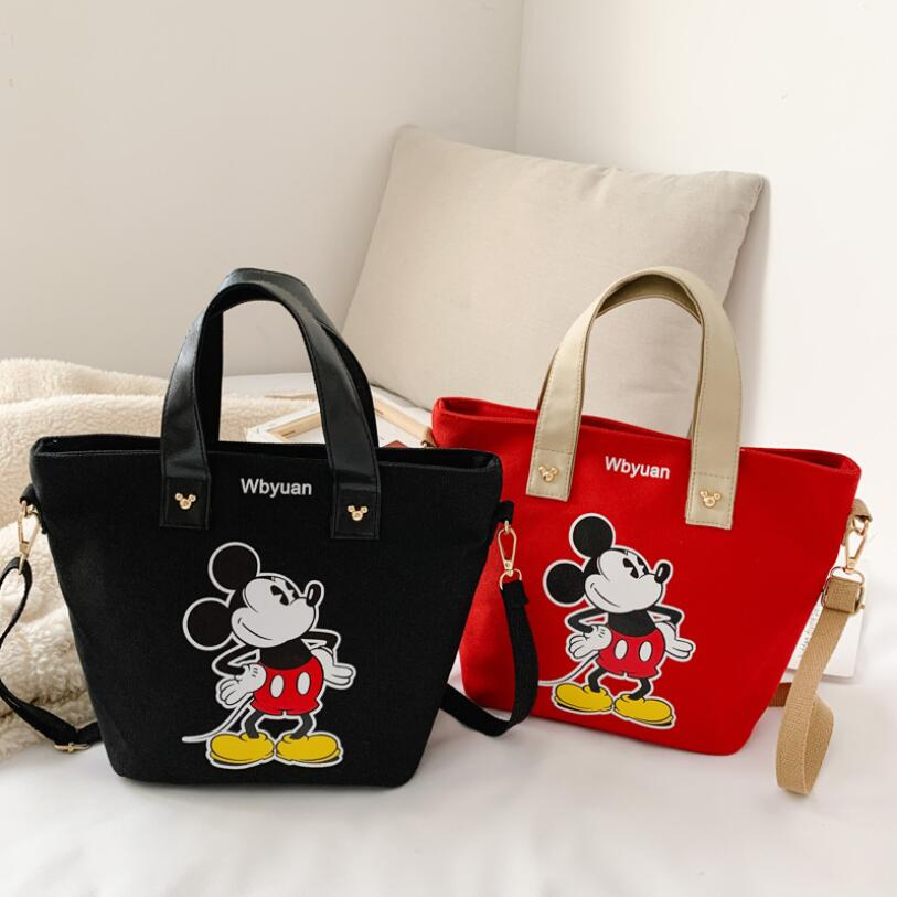 2020 New Cute Mickey Children Cartoon Messenger Bag Student Bag For School Handbag Minnie Messenger Bag Tutor Package Shoulder