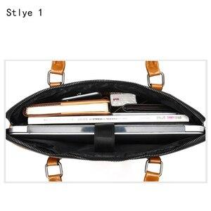 Image 3 - Couro do plutônio à prova d14 água 14 15.6 saco do mensageiro portátil para macbook air 13 a1932 2018 2019 caso 13.3 15 bolsa feminina sacos de ombro