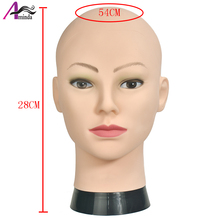 Bald Mannequin Head With Clamp Female For Wig Making Hat Display Cosmetology Manikin Makeup Practice